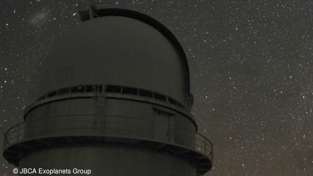 Magellanic Clouds time lapse from the ESO La Silla Observatory, Chile