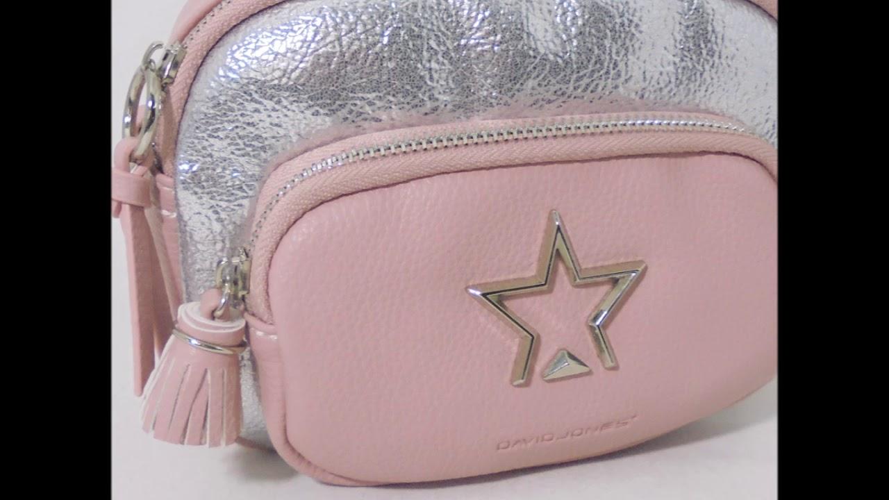 78aae1845 Bolso bandolera rosa estrella en LUTASHA por 35,95 € - YouTube