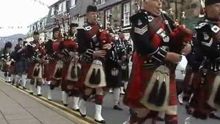PORTREE - ISLE OF SKYE - SCOTLAND - BAGPIPES - PIPE BANDS - DRUMS