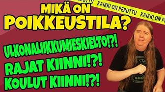 Mitä tarkoittaa POIKKEUSTILA!?! Suomi pysähtyy!