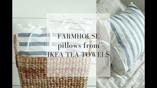 DIY Farmhouse Pillows from IKEA Tea Towels