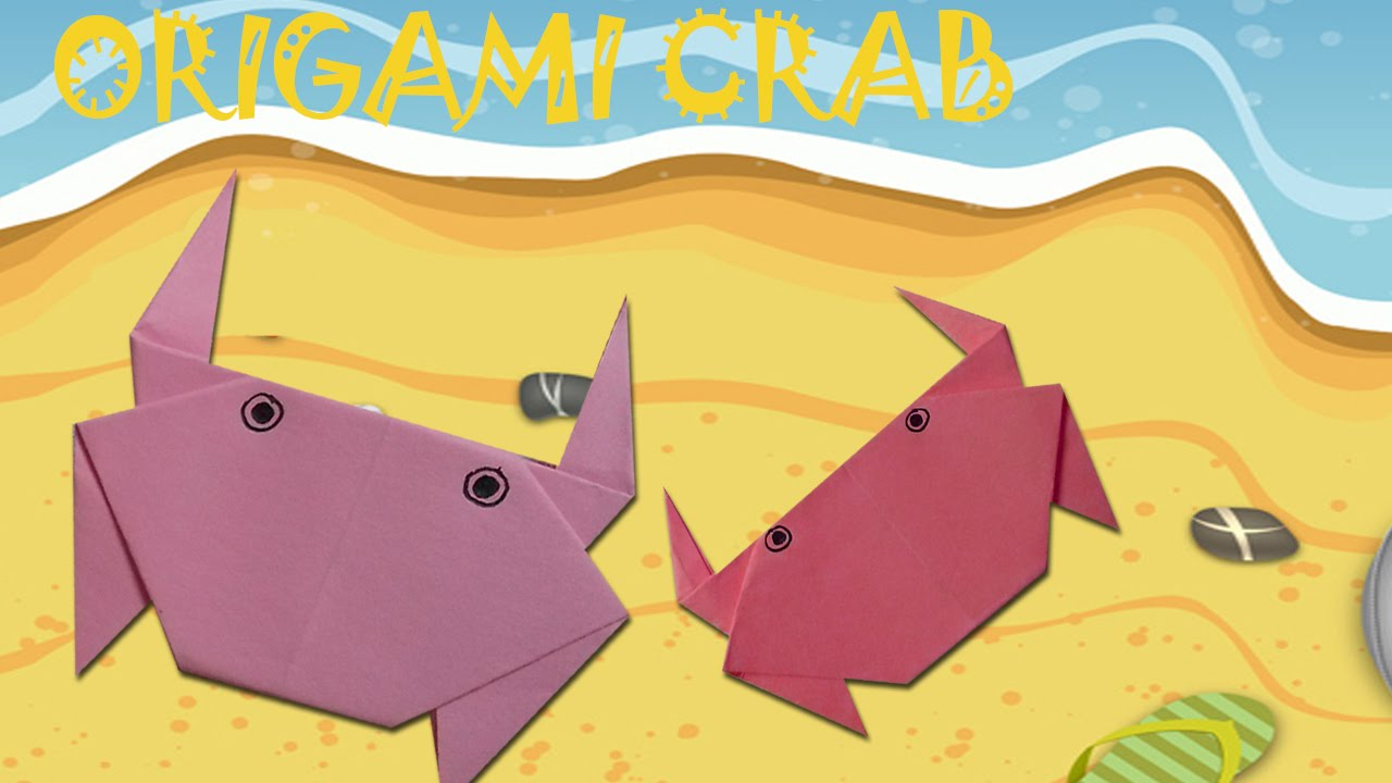 origami crab origami easy youtube