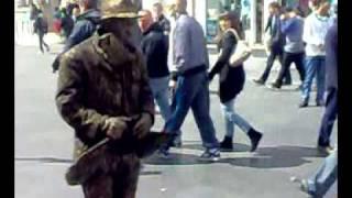 fun  man  in Leicester  street  Uk