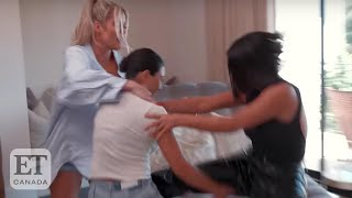 Kardashians React To Kim-Kourtney Fight