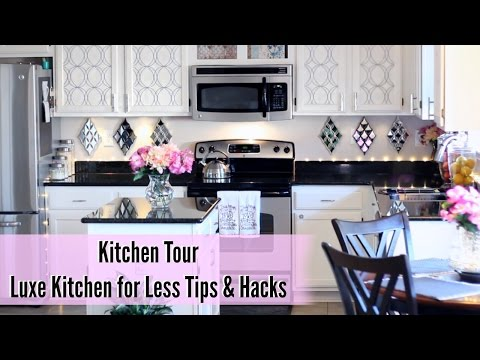 💖 Glam Home 💖 Kitchen Tour | Luxe Kitchen for Less Tips & Hacks