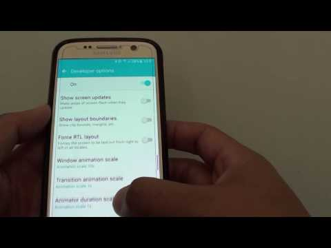 Samsung Galaxy S7: How to Change Window Animation Scale