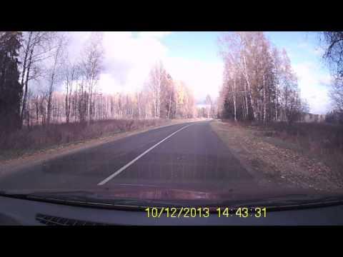 Трасса Кинешма Заволжск Островское. Октябрь 2013 г