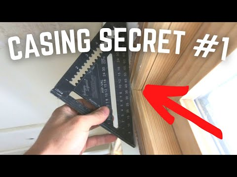 Window & Door Casing Installation Secret #1... Proud Drywall Or Jamb??? Just Roll The Miter