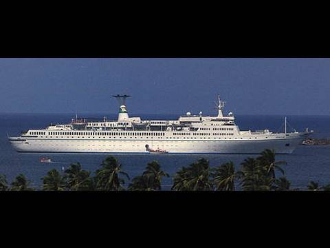Cruise ship Maxim Gorki at Las Palmas, Canarias Максим Горький