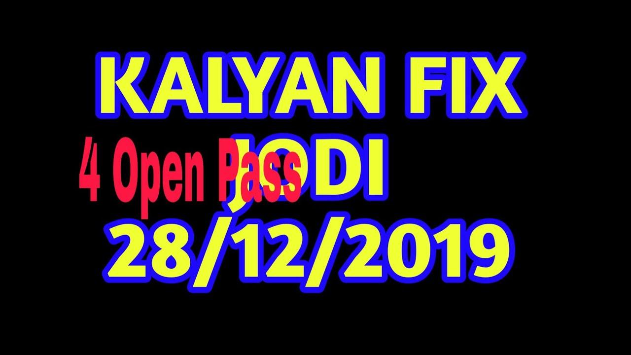 Kalyan Fix Jodi*28/12/2019 *Kalyan Fix Open - YouTube