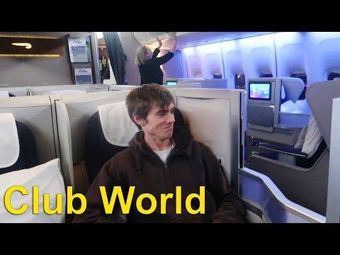BA CLUB WORLD (Business Class) Review JFK - LHR Boeing 747