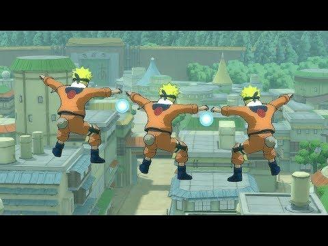 Naruto Ultimate Ninja Storm Legacy - Hidden Leaf Village Free Roam Gameplay PC