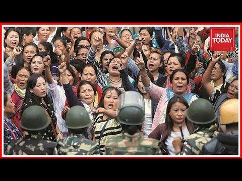 GJM Protesters March With Traditional Weapon, Khukhris In Darjeeling