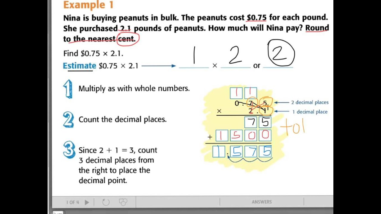 how to multiply decimals fast