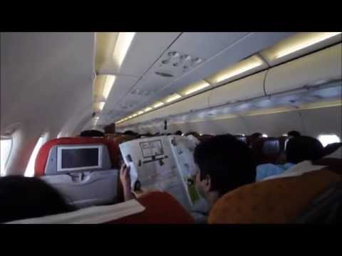 """Air India """"VT-SCP"""" Airbus A319-112 AI 517 Hyderabad - Pune Inflight"""