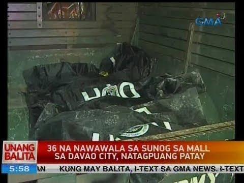UB: 36 na nawawala sa sunog sa mall sa Davao City, natagpuang patay