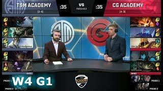 TSM Academy vs Clutch Gaming Academy | Week 4 of S8 NA Academy League Spring 2018 | TSMA vs CGA