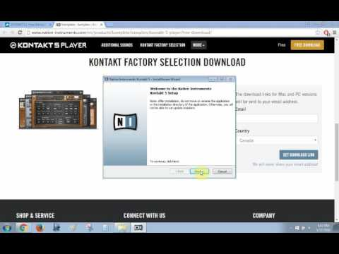 How to download kontakt free