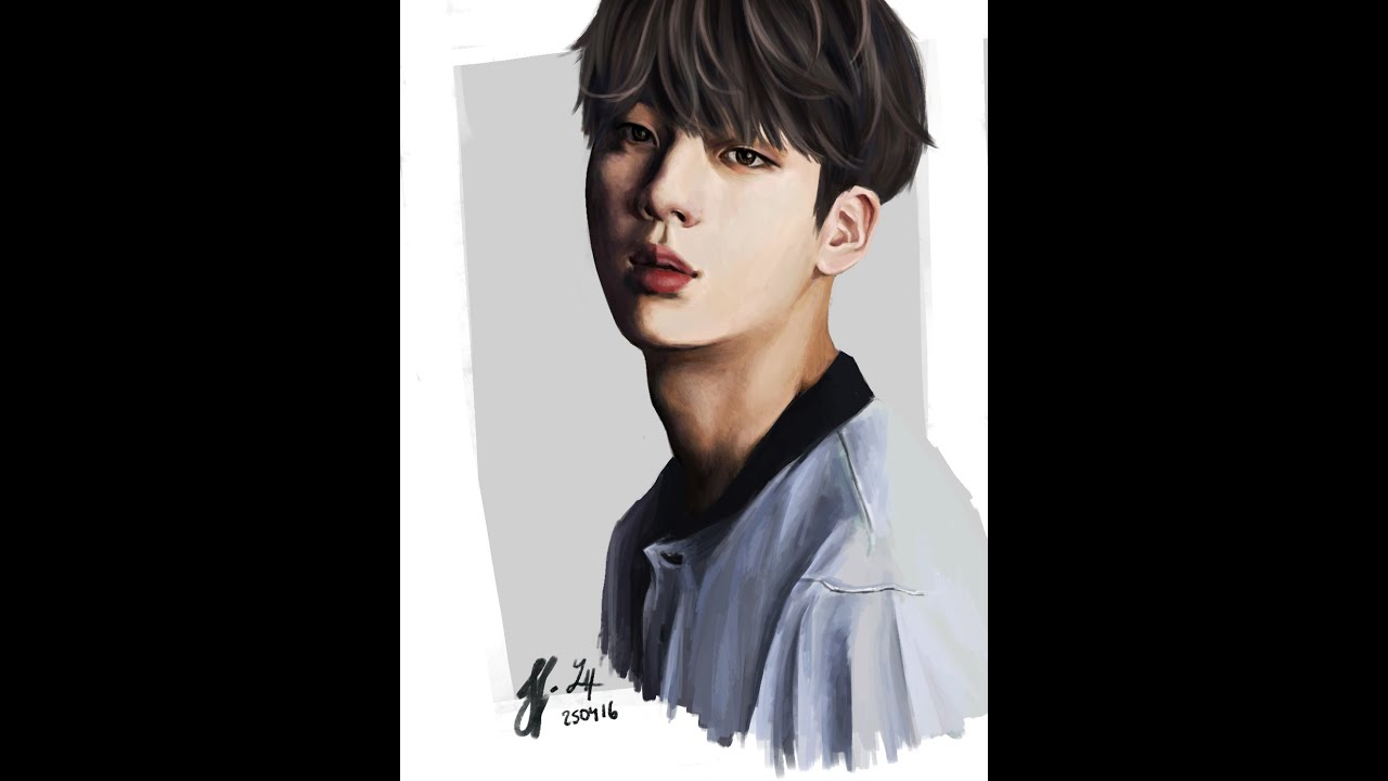 Jin Bts Digital Painting Youtube