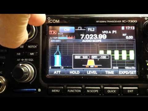 IC-7300 Enhanced CW using PBT and Notch ---N4LQ