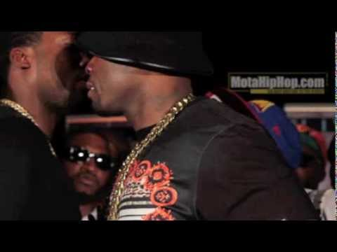 50 Cent almost fights Meek Mill's man Trav at Core DJs Mixshow Live 4 ATL