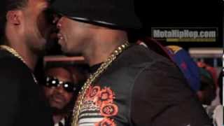 Download 50 Cent almost fights Meek Mill's man Trav at Core DJs Mixshow Live 4 ATL Mp3 and Videos