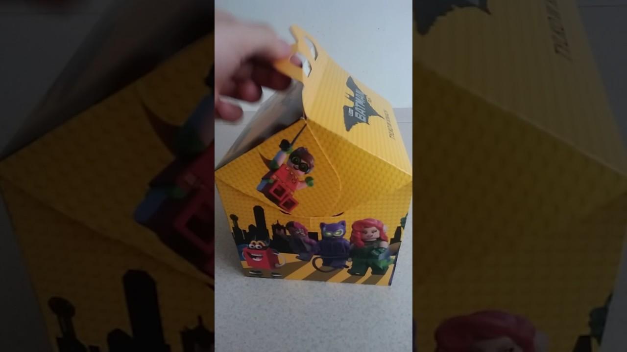 The Lego Batman Movie Happy Meal Kubek Youtube