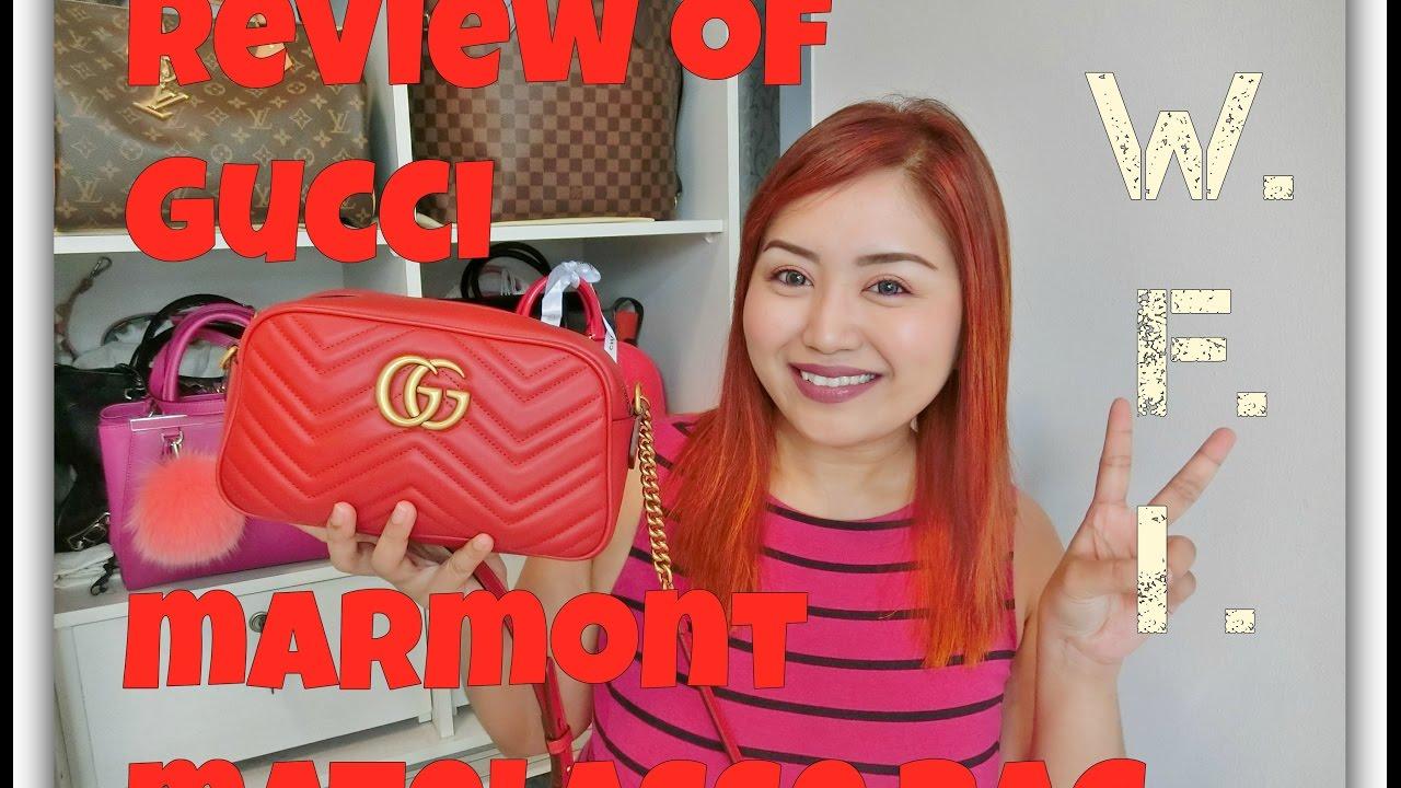 b554951f94cf Review of Gucci Marmont Matelasse Shoulder bag + W.F.I. - YouTube