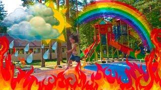Outdoor Playground ACCIDENT Video for Kids about Colors and Baby Born doll / Nursery Rhymes Songs