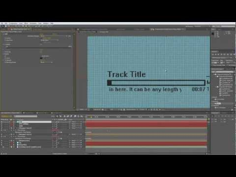 After Effects Tutorial - Digital Music Player
