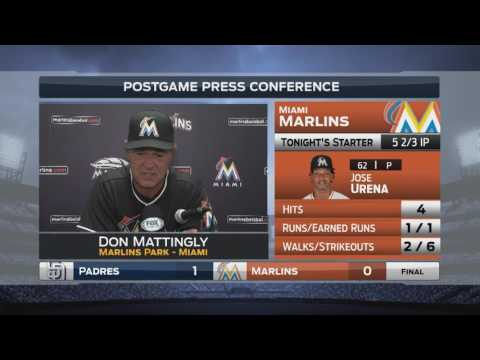 Don Mattingly -- Miami Marlins vs. San Diego Padres 08/27/2016