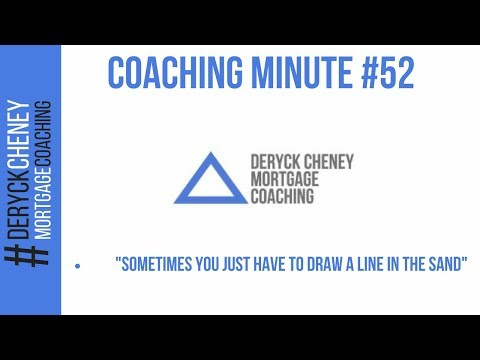 Sometimes You Just Have To Draw A Line In The Sand....Coaching Minute #52