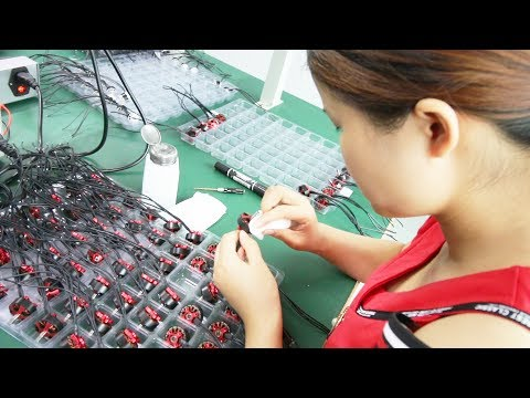 At a Drone Motor Factory in China. What's it like?