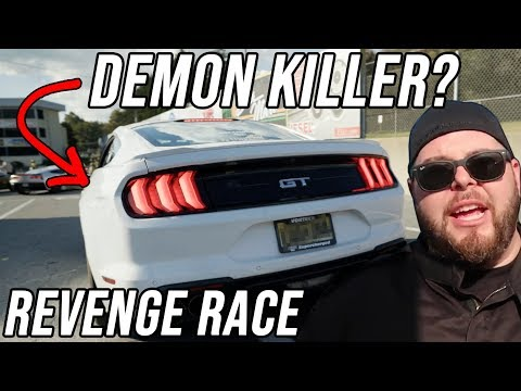 """He built a """"Demon Killer"""" and wanted REVENGE   Dodge Demon vs BOOSTED Mustang GT"""