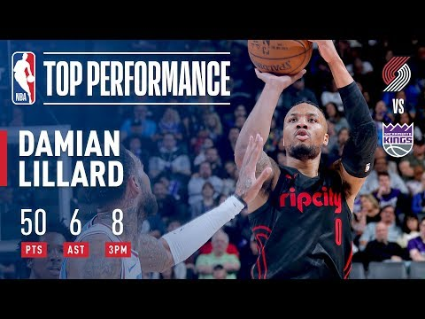 Damian Lillard Racks Up 50 Pts in 3 Quarters! | February 9, 2018