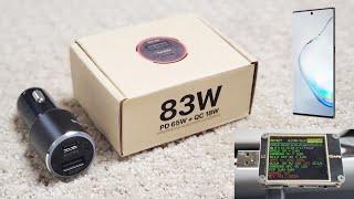 WOTOBEUS 83W 2-Port USB-C Car Charger w PPS - Unboxing Review