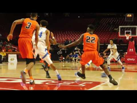 Perry 3-pointer/dunk Poly/Stephen Decatur boys basketball 3A state semifinal 03/09/17