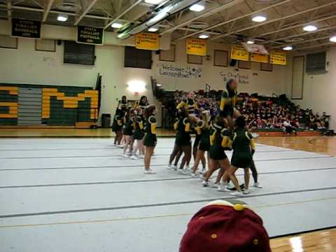 Great Mills High School fall cheerleading competition