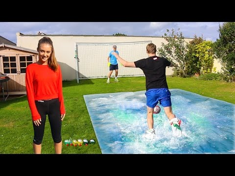 Thumbnail: SLIP 'N' SLIDE FOOTBALL vs MY SISTER