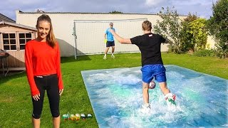 SLIP 'N' SLIDE FOOTBALL vs MY SISTER Video