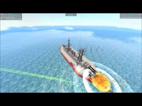 From The Depths Tournament Battleship Brawl S3E01 BB 64 Wisconsin vs Death of Virtue