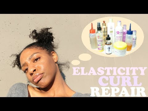 ELASTICITY/PROTEIN CURL REPAIR for Damaged Natural Hair   Products + Treatments