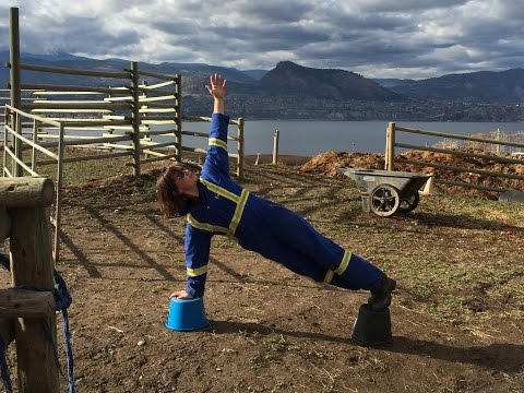 Farm Bucket Workout - Total Body -Motivation to Exercise Anywhere/Anytime.