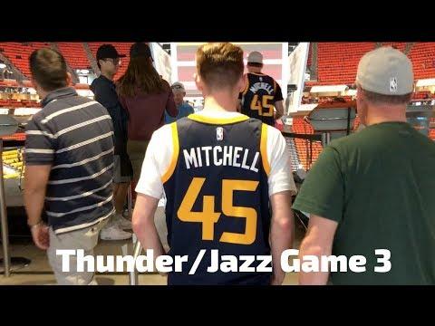 OKC Thunder vs. Utah Jazz Game 3 Vlog! (INSANE CROWD!!)