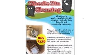 Wheelie Bin Cleaning Leaflets Flyer Business Cards