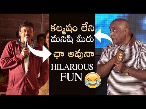 RGV Hilarious Counters To Producer Rama Satyanarayana | Super Fun | Bhairava Geetha | Manastars