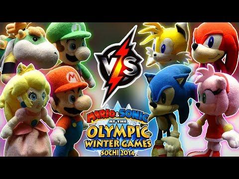 ABM: Mario Vs Sonic !! Olympic Games Hockey Match!! HD