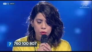 """Canção n.º 7: Joana Barra Vaz - """"Anda Estragar-me Os Planos""""   Final   Festival da Canção 2018"""