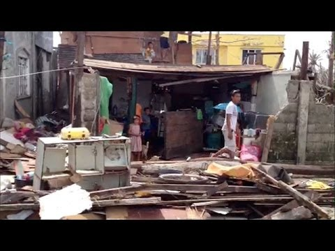 Guiuan, Philippines: the first place hit by typhoon Haiyan