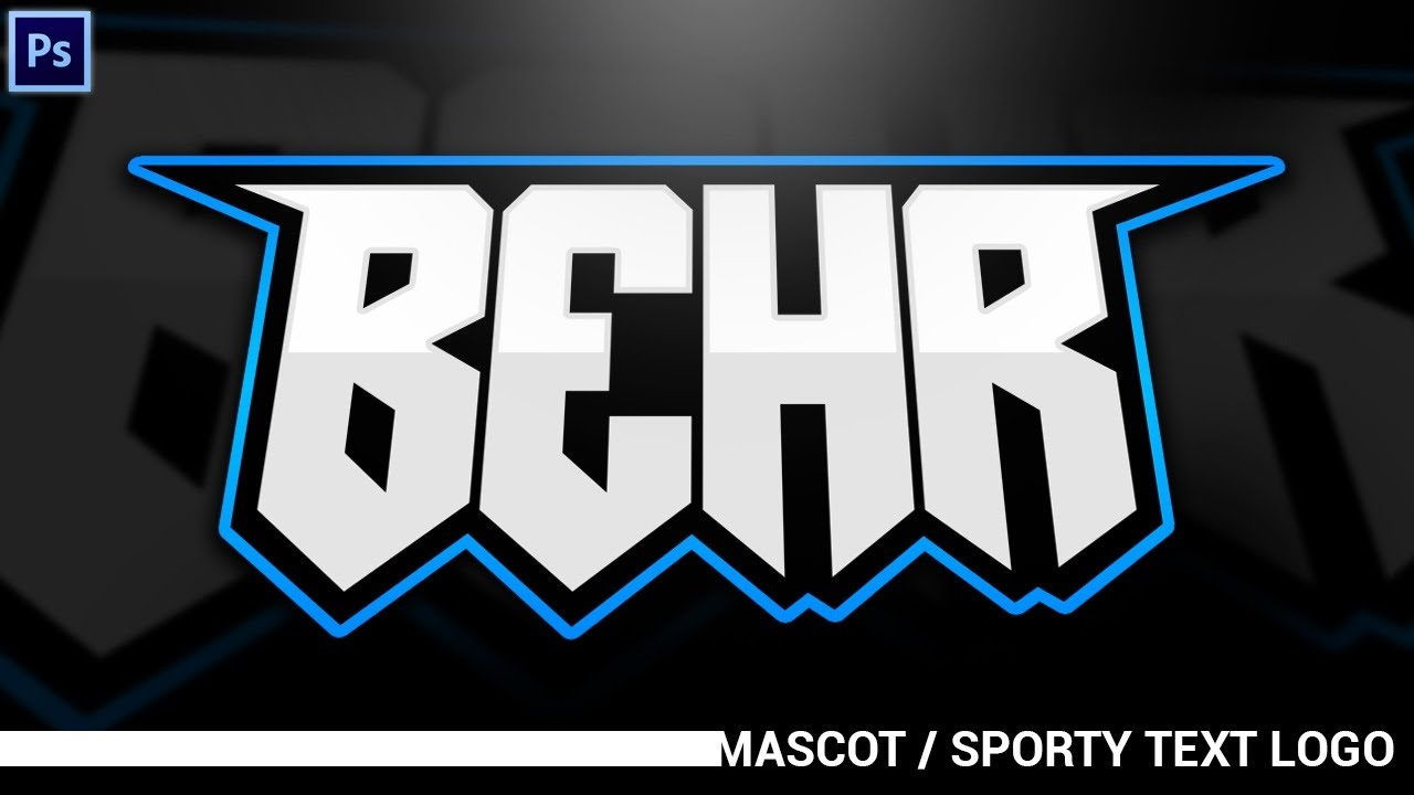 Tutorial: Simplistic Mascot/Sporty Text Logos (eSports ...